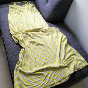 Anthropologie striped racerback maxi dress
